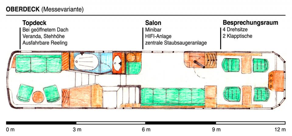 Grundriss Oberdeck - Messevariante