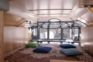 Roadyacht, Busreise, Urlaub, Schlafmöglichkeit, Bett im Bus